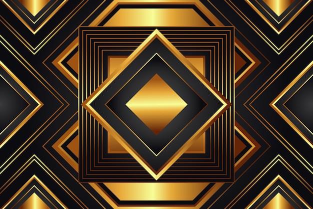 Realistische gouden luxe achtergrond