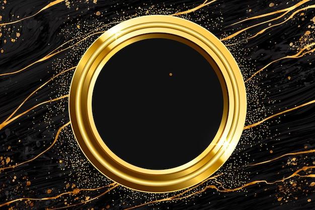 Realistische gouden luxe framesjabloon