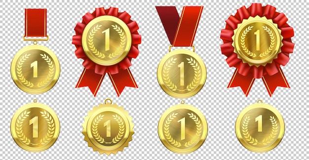 Realistische gouden medailles