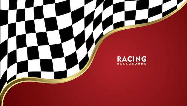 Realistische gouden metalen racen achtergrond, racing vierkante achtergrond