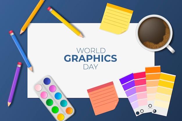 Realistische grafische werelddag