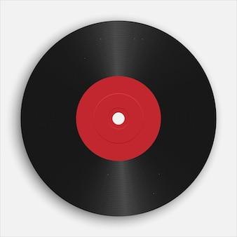 Realistische grammofoon of vinylplaat. audio klassieke plastic schijf