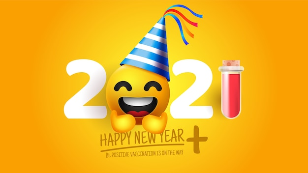 Realistische grappige nieuwe jaar 2020 achtergrond