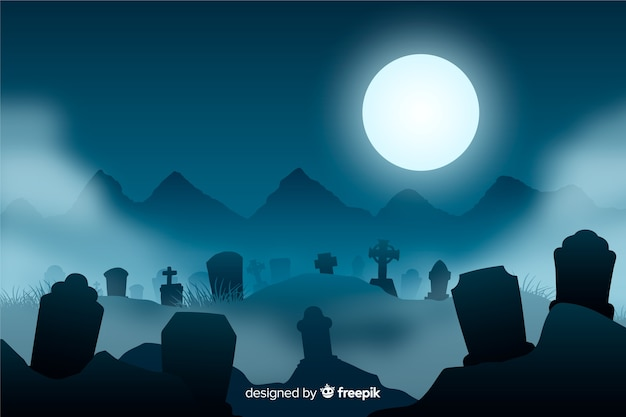 Realistische griezelige halloween-achtergrond