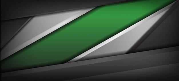 Realistische groene en zilveren grijze geweven achtergrond