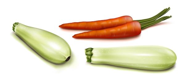 Realistische groenten bovenaanzicht illustratie