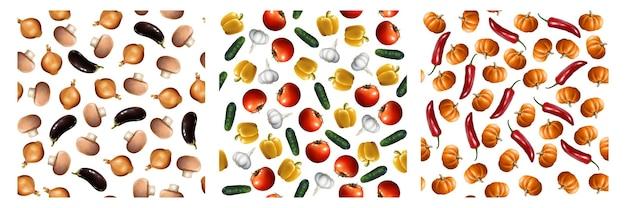 Realistische groenten set collectie
