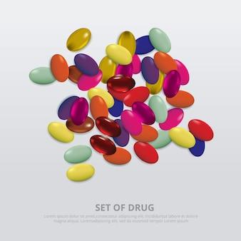 Realistische groep drugs