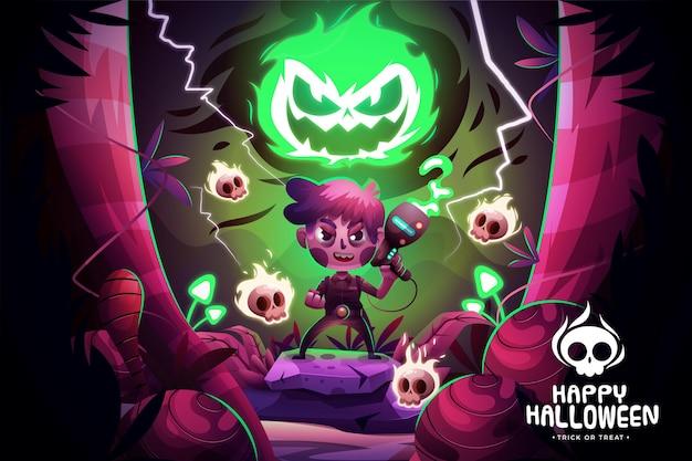 Realistische halloween-achtergrond