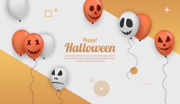 Realistische halloween-ballon voor feestviering