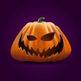 Realistische halloween-pompoen
