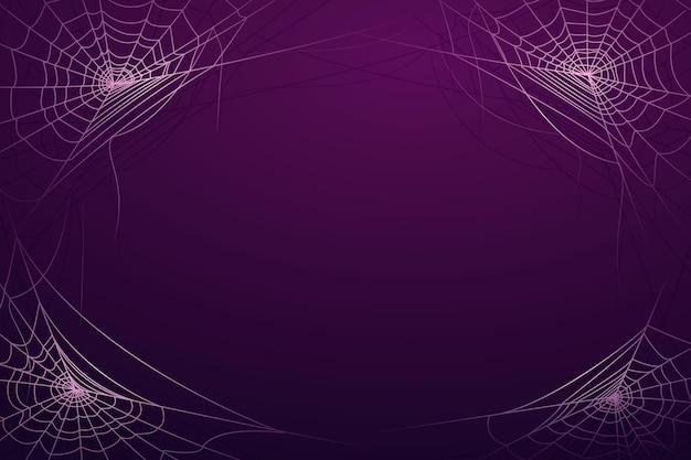 Realistische halloween-spinnewebachtergrond