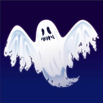 Realistische halloween-spookillustratie