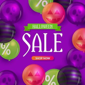 Realistische halloween-verkoop