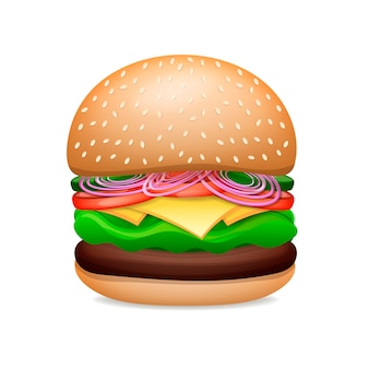 Realistische hamburger classic burger