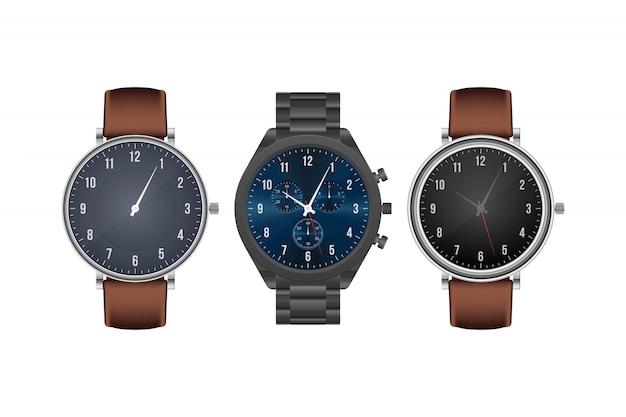 Realistische hand horloge illustratie geïsoleerd op een witte achtergrond