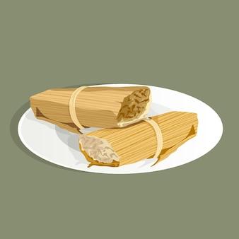 Realistische handgetekende tamales