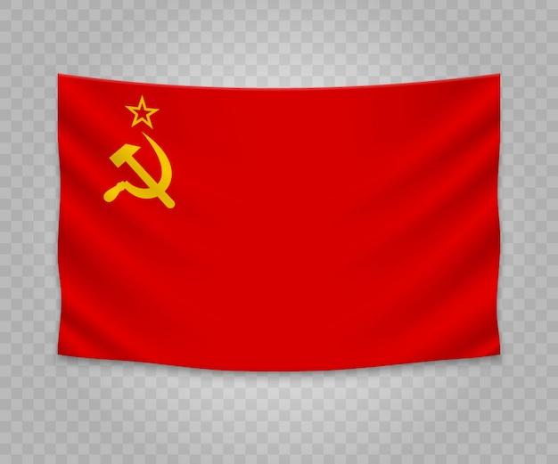 Realistische hangende vlag van de sovjet-unie