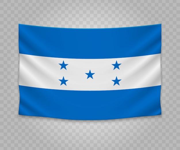 Realistische hangende vlag van honduras