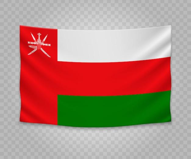 Realistische hangende vlag van oman
