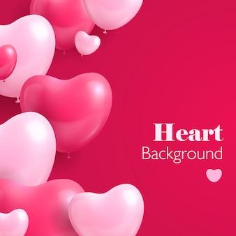 Realistische harten ballon achtergrond