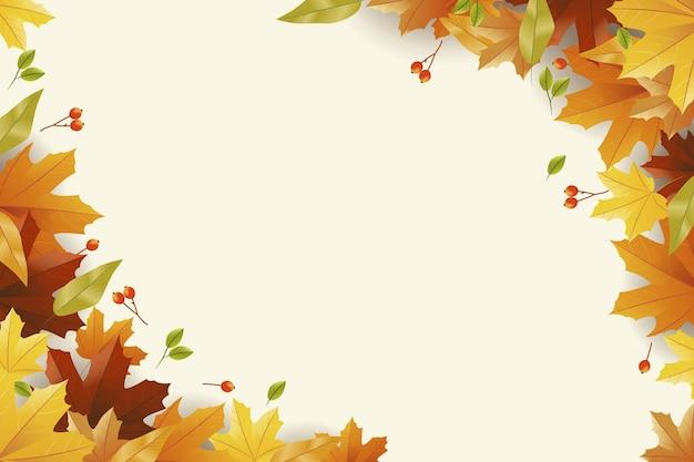 Realistische herfst achtergrond