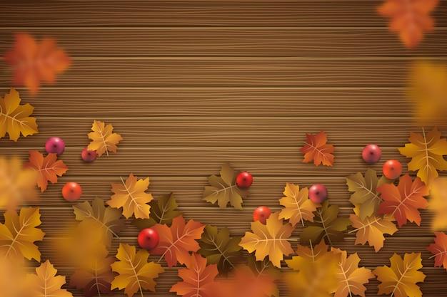 Realistische herfstachtergrond