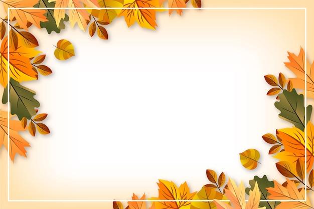 Realistische herfstbladeren achtergrond