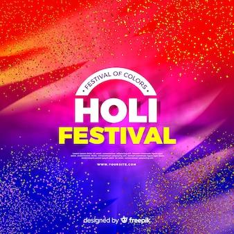 Realistische holi festival achtergrond