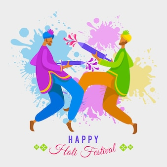 Realistische holi festival illustratie