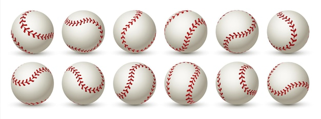 Realistische honkbal. leren 3d softbalbal.