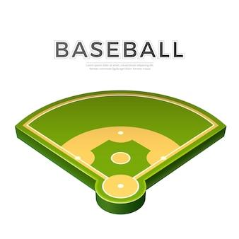 Realistische honkbal speeltuin 3d pictogram