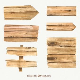 Realistische houten borden