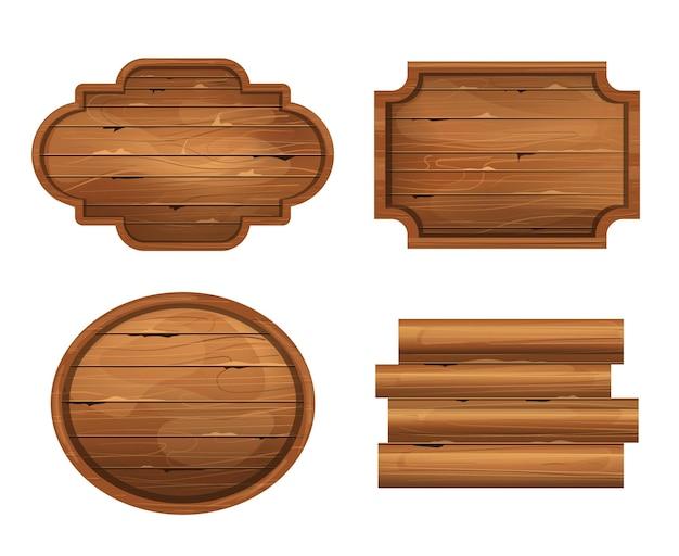 Realistische houten plank geïsoleerd op een witte achtergrond