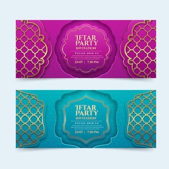 Realistische iftar-banner