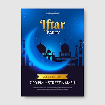 Realistische iftar verticale poster sjabloon