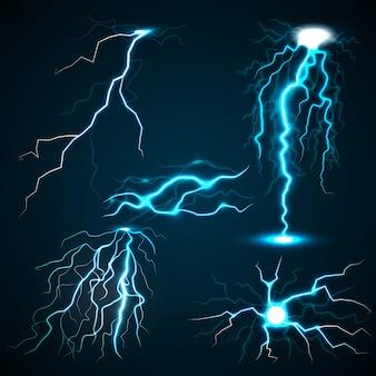 Realistische illustratie van bliksemschichten voor het web