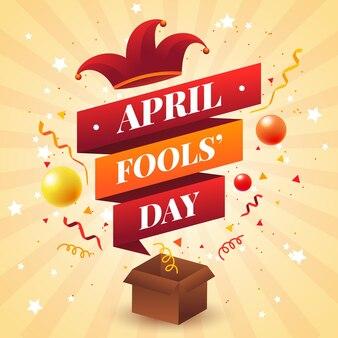 Realistische illustratie van de dwazen van april