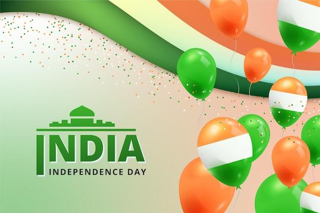 Realistische illustratie van de onafhankelijkheidsdag van india