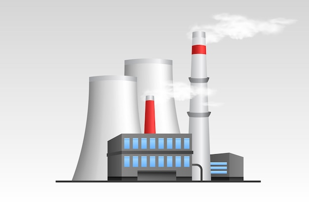 Realistische illustratie van een elektriciteitscentrale