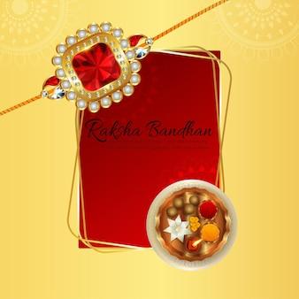 Realistische illustratie van gelukkige raksha bandhan viering achtergrond