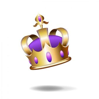 Realistische illustratie van gouden kroon