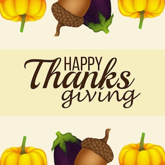 Realistische illustratie van happy thanksgiving day achtergrond