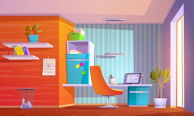 Realistische illustratie van het interieur van de kamer