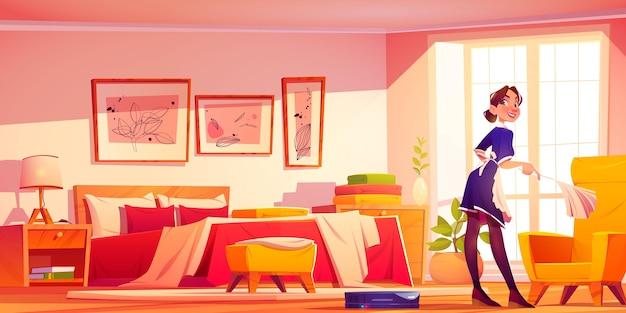 Realistische illustratie van het interieur van de kamer Gratis Vector