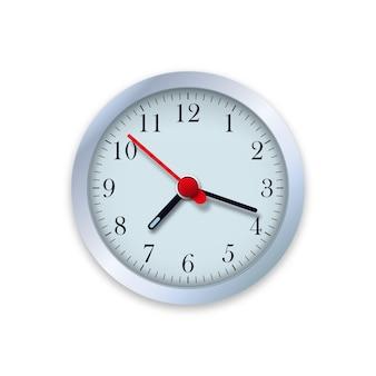 Realistische illustratie van muurklok. controleer de tijd.