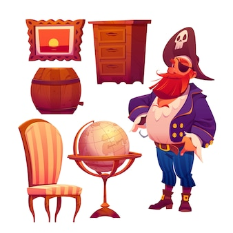 Realistische illustratie van verschillende meubelsets