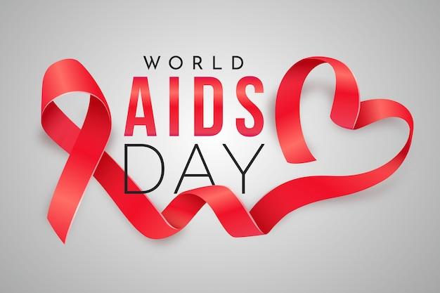 Realistische illustraties van de wereld aidsdag