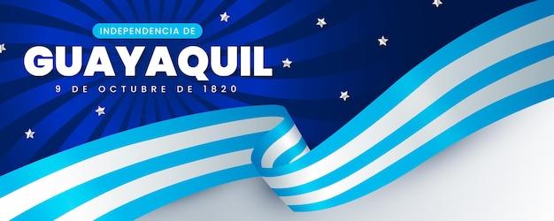 Realistische independencia de guayaquil-banner