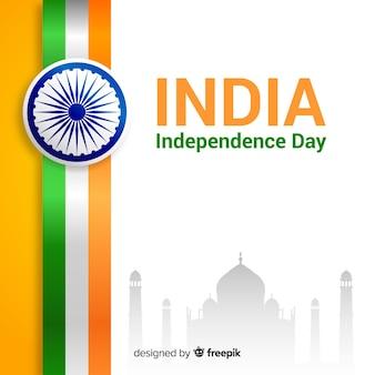 Realistische india onafhankelijkheidsdag achtergrond